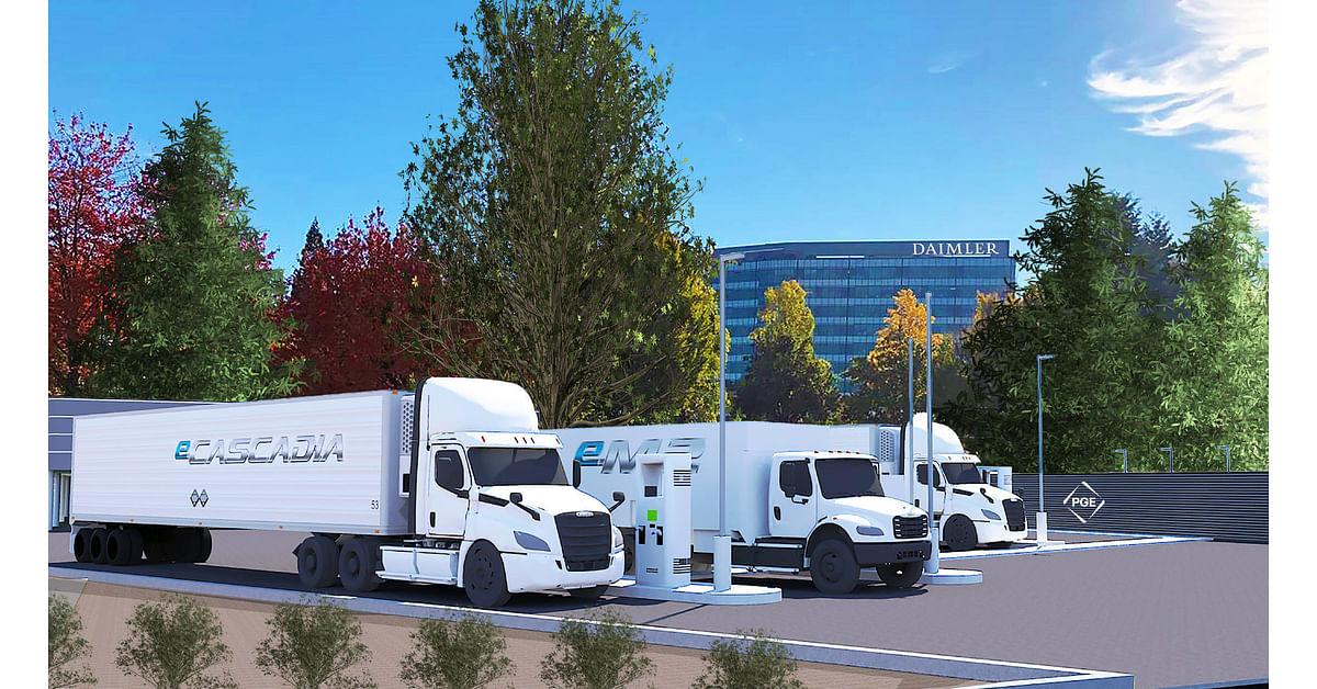 Portland General & Daimler Trucks Electric Island