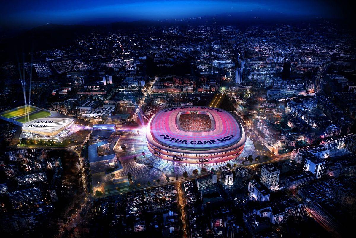ON-A Reveals Park around Barcelona's Camp Nou Stadium