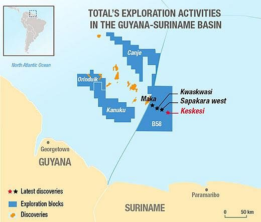 Total Announces Fourth Discovery Offshore Suriname
