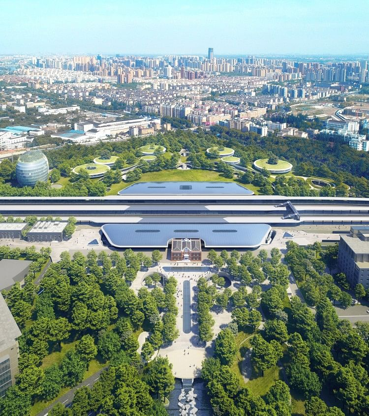 Mad Architects Train Station in Jiaxing in China