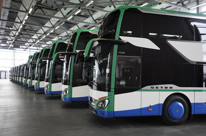 9 Setra Double Decker Buses for Geldhauser in Germany