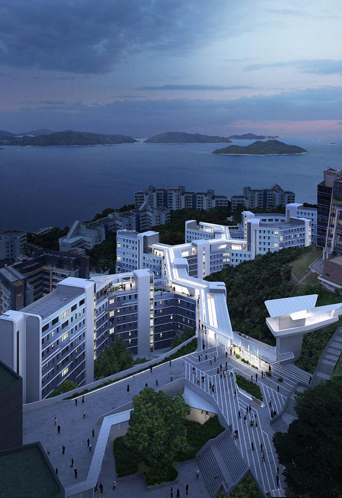 ZHA Student Residence Development at Hong Kong University