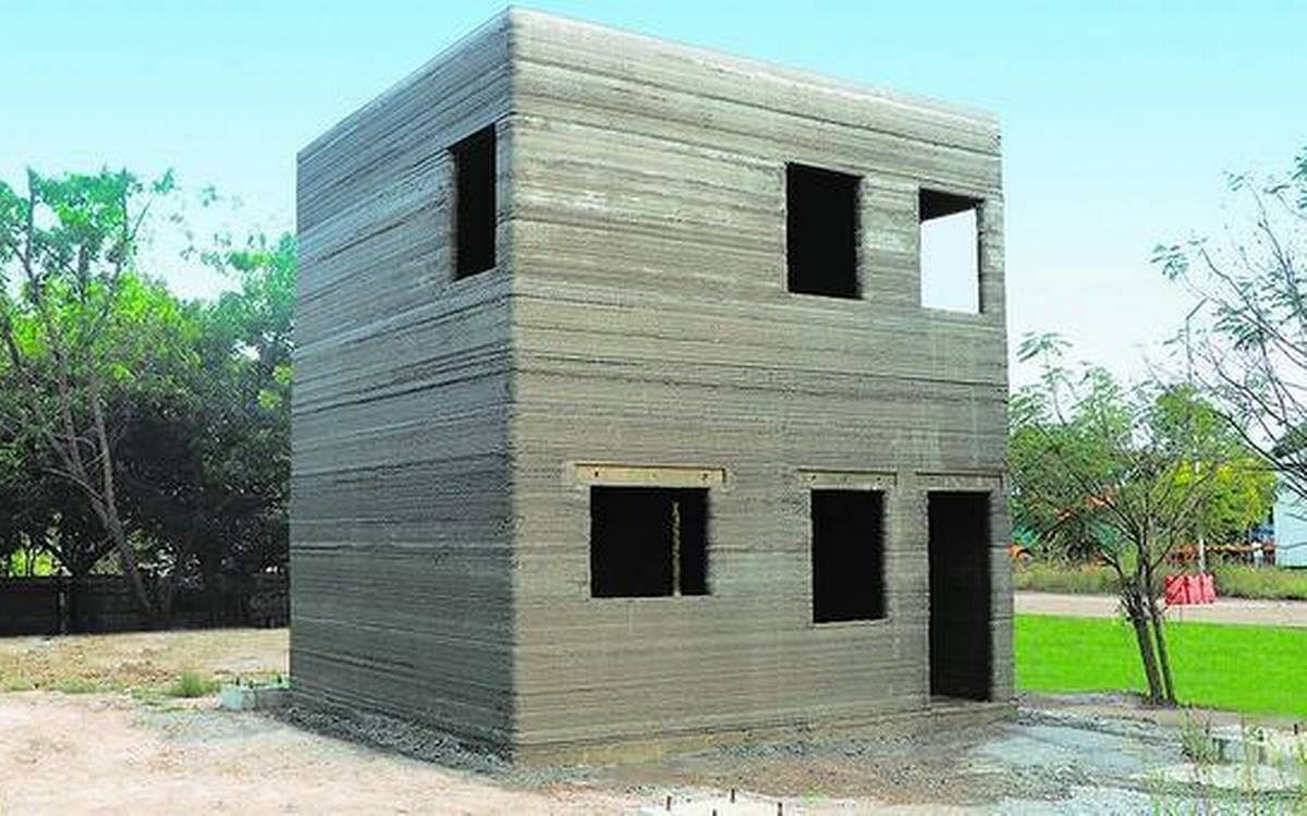 L&T Construction 3D Prints House at Kanchipuram in India