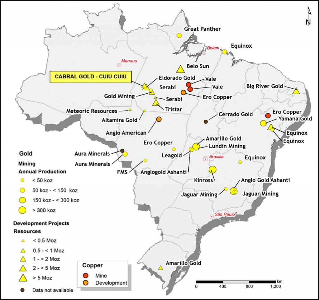 Cabral Gold Drills Machichie Target in Cuiu Cuiu District inBrazil