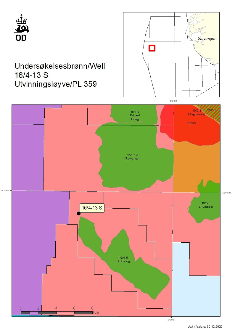 NPD Drilling Permit to Lundin Energy for Well 16/4-13 S
