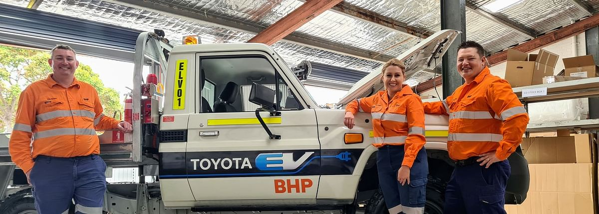 BHP & Toyota Australia Electric Vehicle Trial NickelWestOperations