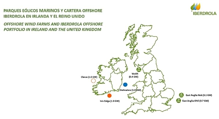 Iberdrola Acquires 3 GW Project Pipeline in Ireland