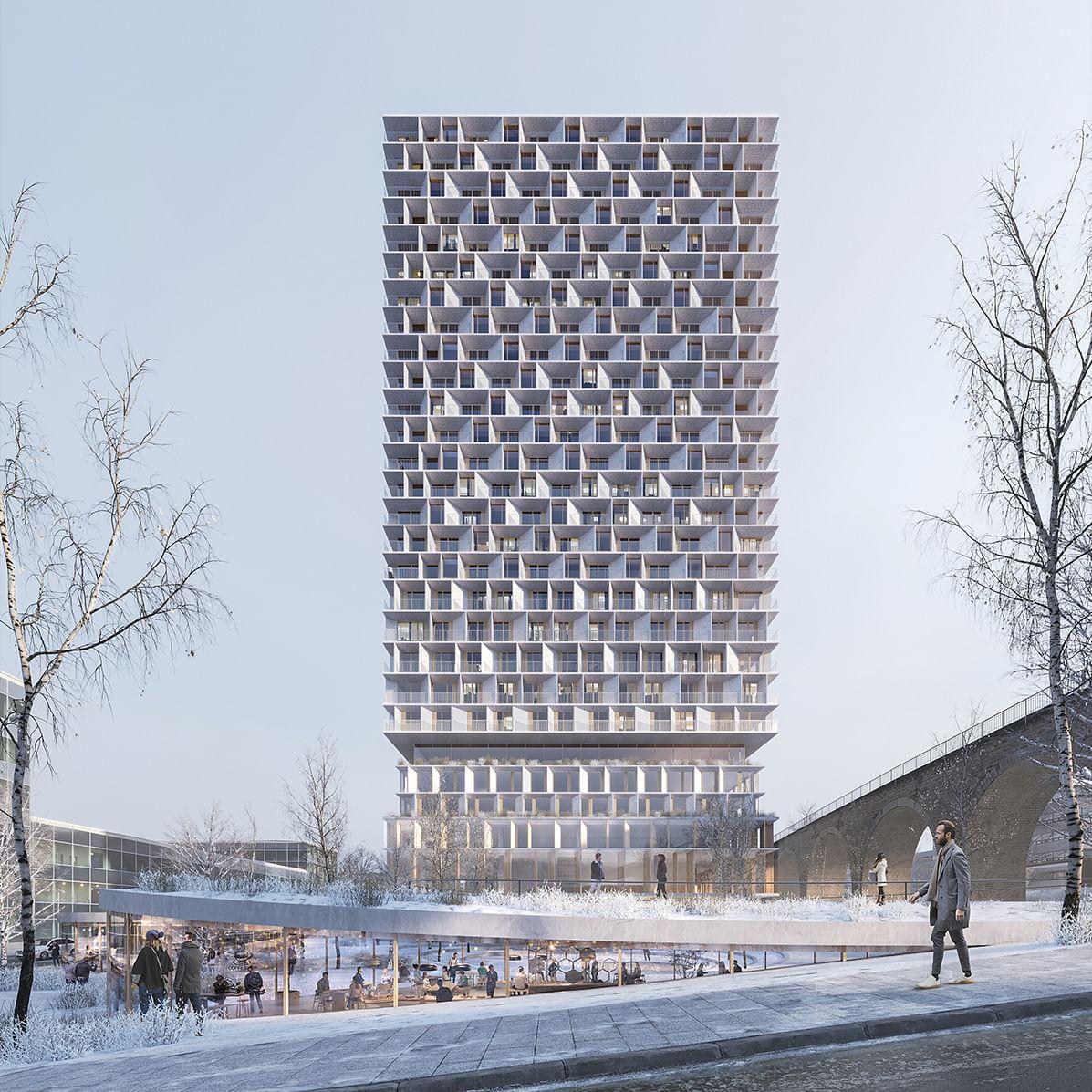 3XN & IttenBrechbühl on to Design Wooden Tower in Switzerland