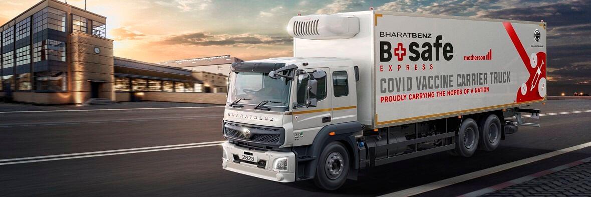 Daimler Trucks Unveils BharatBenz Reefer Truck for Vaccines