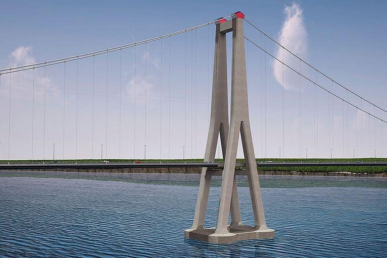 Chile Building Earthquake Resistant Steel Suspension Bridge