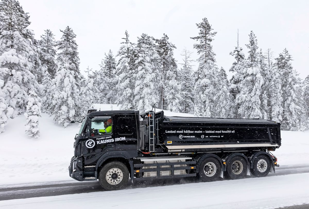 Kaunis Iron Piloting Electric Truck Iron Ore Haulage in Sweden