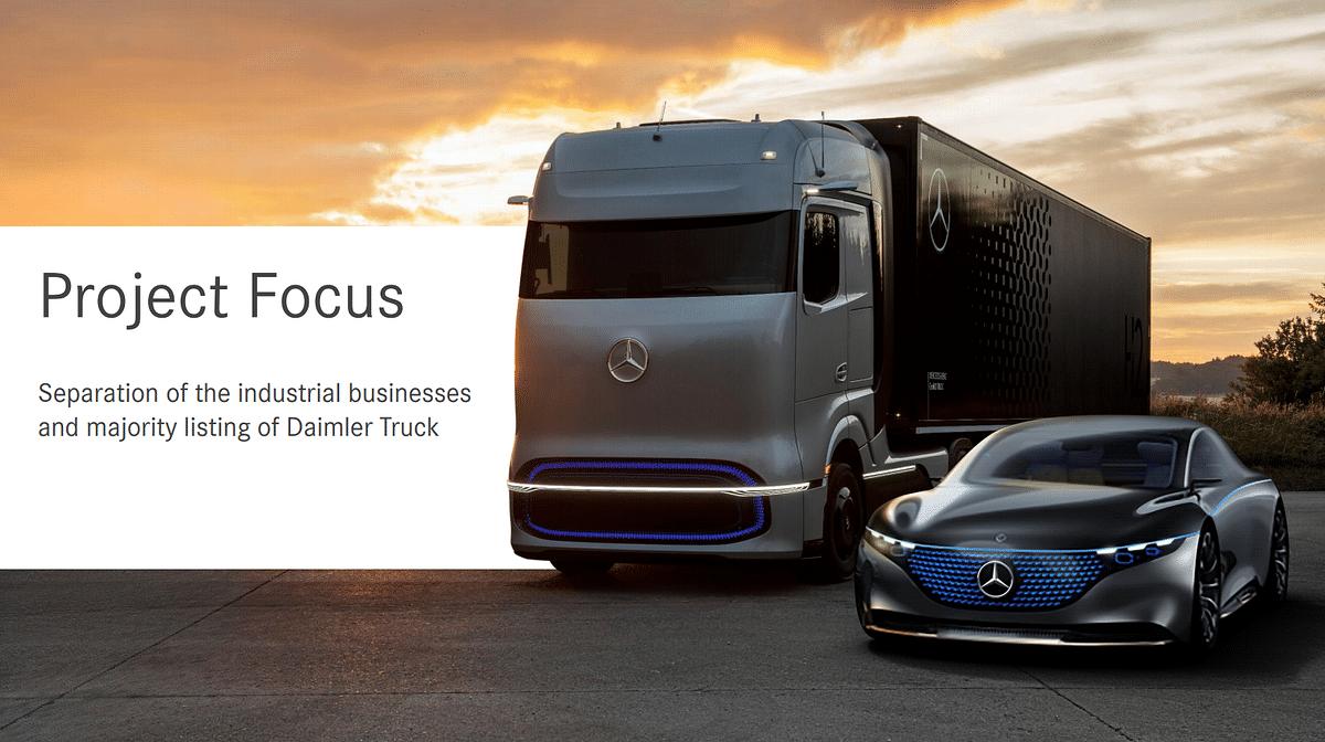 Daimler Plans Truck & Bus Business Spinoff