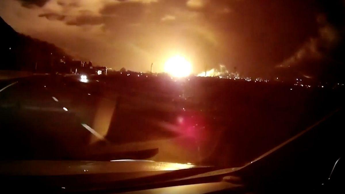 Fireball Rips through British Steel Works