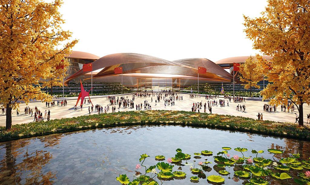 ZHA Design for Phase II of International Exhibition Centre Beijing