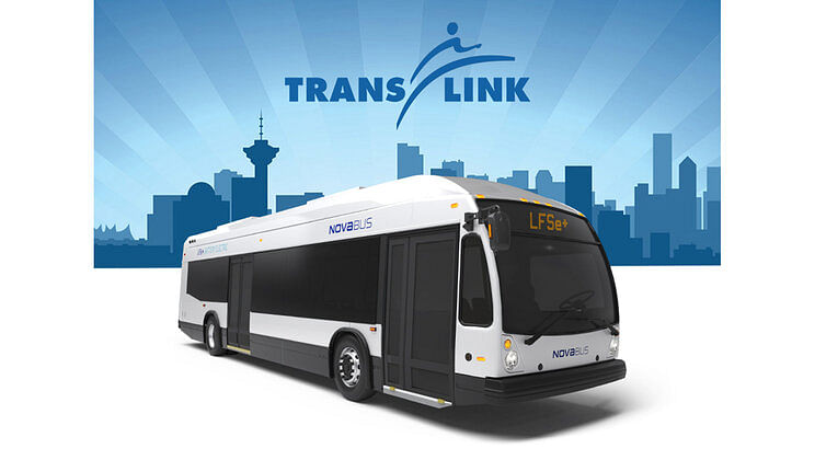 TransLink Selects Nova Electric Buses for Vancouver