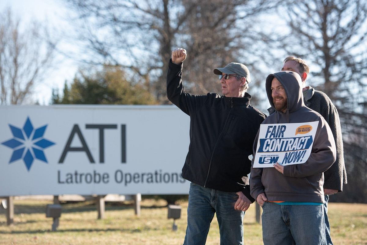 Allegheny Technologies Workers Go on Strike
