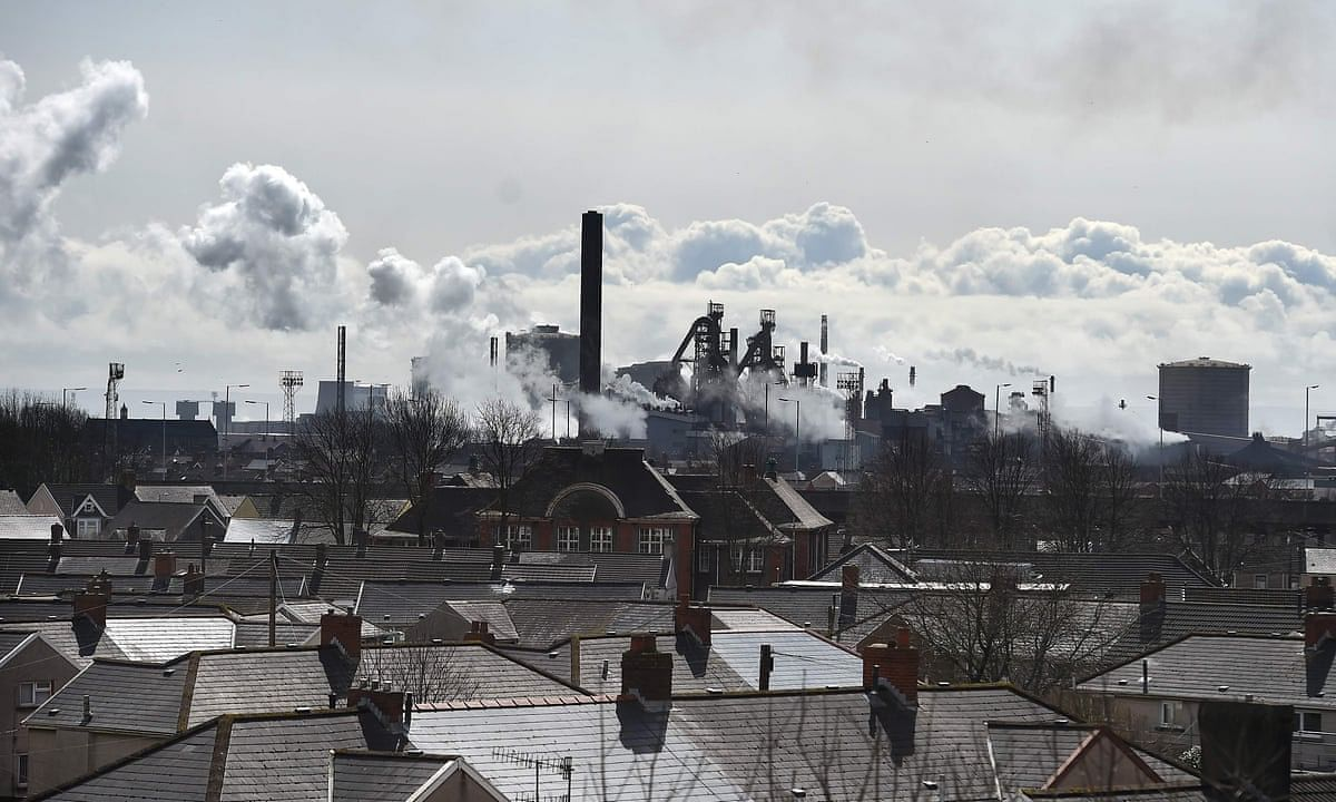 Tata Steel Facing Carbon Challenge  Port Talbot Steelworks inWales