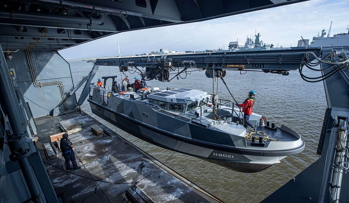 Expeditionary Survey Boat Hydrograaf Named at Damen Shipyard