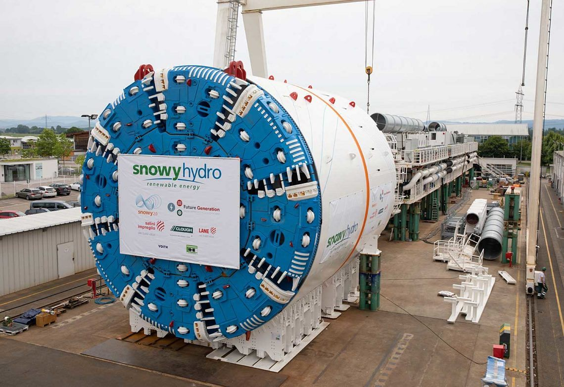 Webuild TBM Ready for Work Snowy 2.0 Hydropower Project