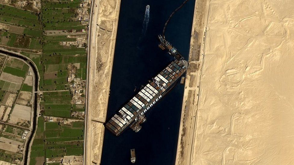 MV Evergiven Remains Wedged Blocking Suez Canal
