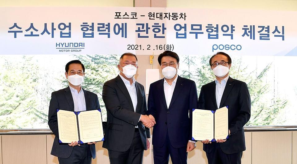 POSCO & Hyundai Sign MOU on Hydrogen Business Cooperation