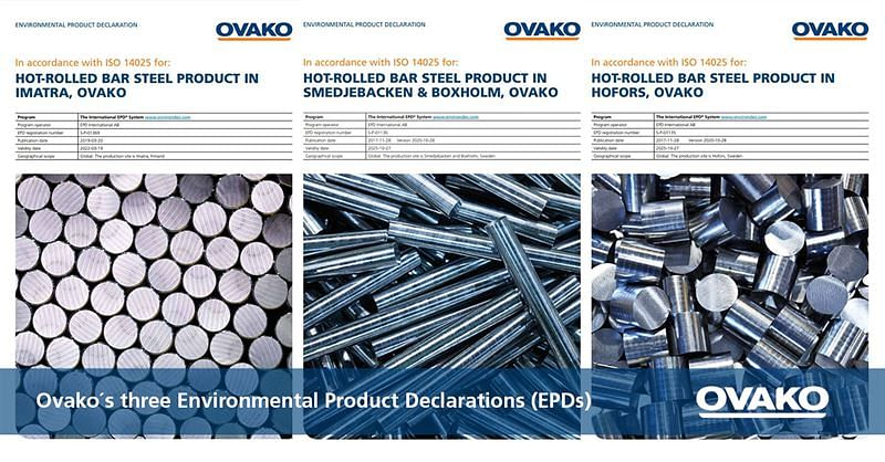 Ovako Environmental Product Declarations for Customers