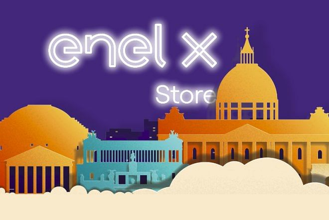 Enel X Opens HPC Charger at a Store in Rome