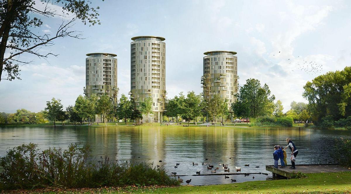 Brabantbad Towers at Former Prins Hendrikpark in 's-Hertogenbosch