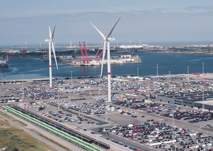 Wind Power Generation Starts Vehicle Logistics Terminal in Belgium