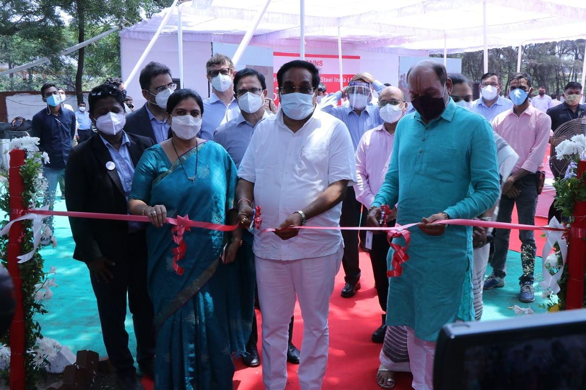 AM/NS India Opens 250 Bed COVID Hospital at Hazira