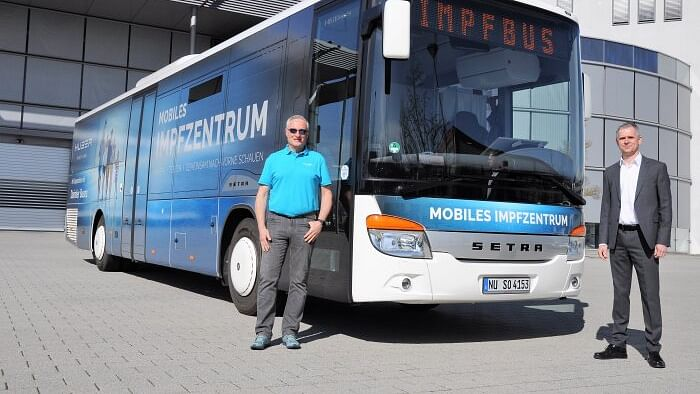 Daimler Setra Vaccination Bus in Operation in Germany