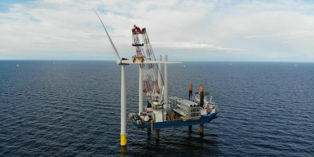 Jan De Nul Halfway through Installation of Kriegers Flak Wind Farm