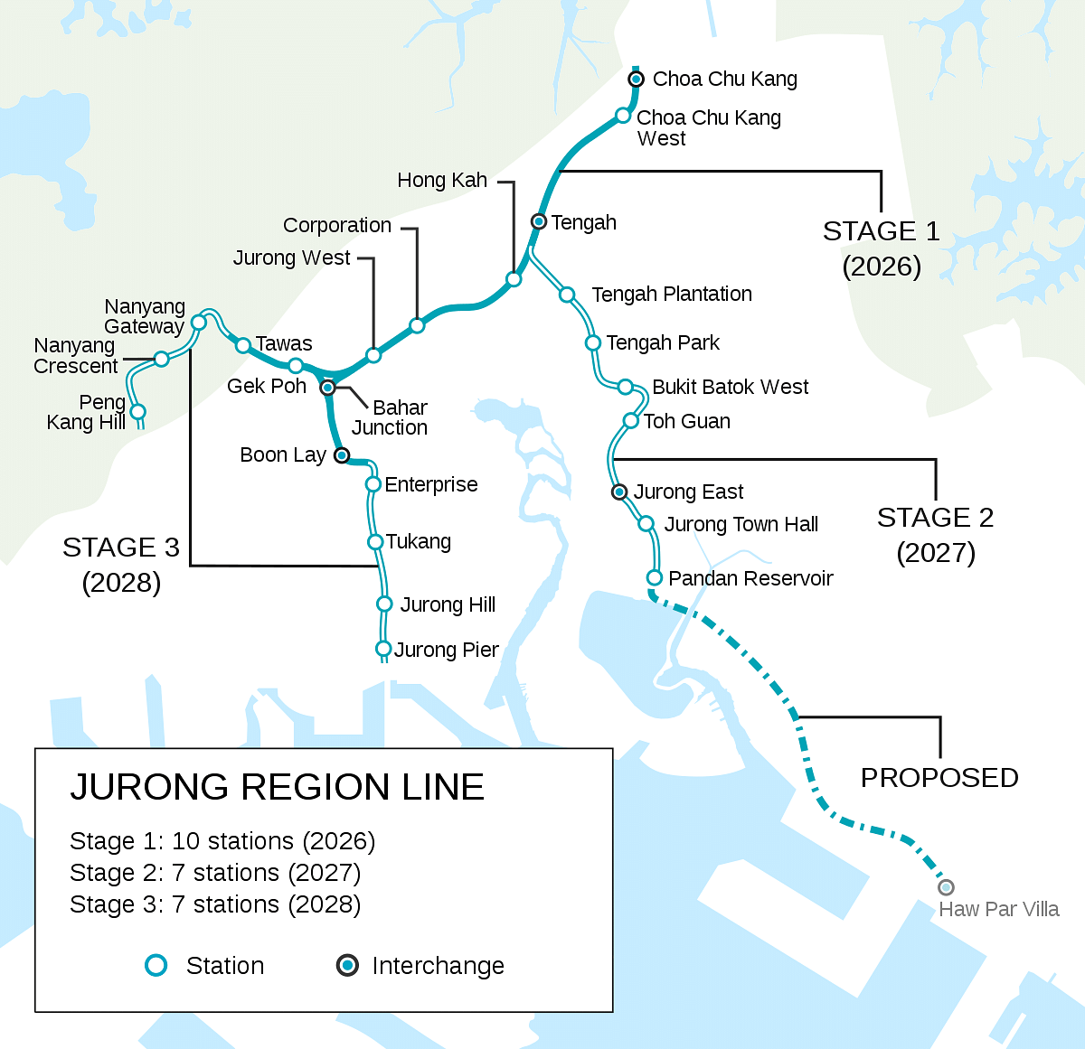 Civil Contracts for 4 Stations for Jurong Region Line in Singapore