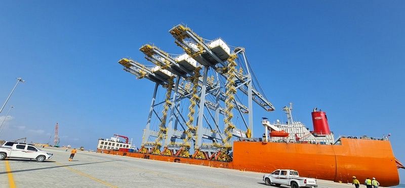 DP World Berbera Installing 3 Ship To Shore Gantry Cranes