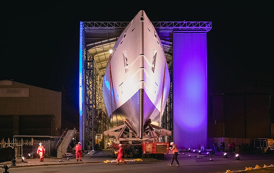Mammoet Moves South African Navy's Patrol Vessel for Launch