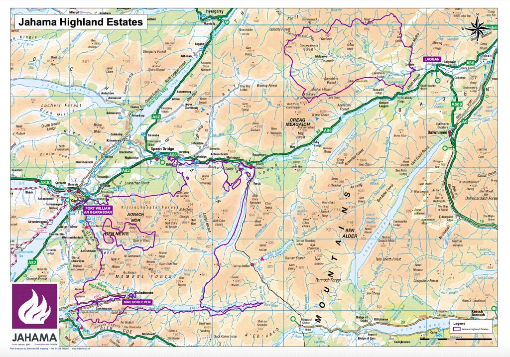 Jahama Highland Estate in Scotland was Part of Lochaber Deal