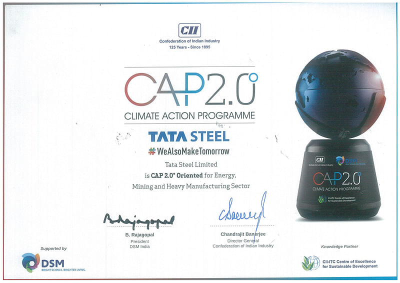 CII Honours Tata Steel with Climate Action Program Award