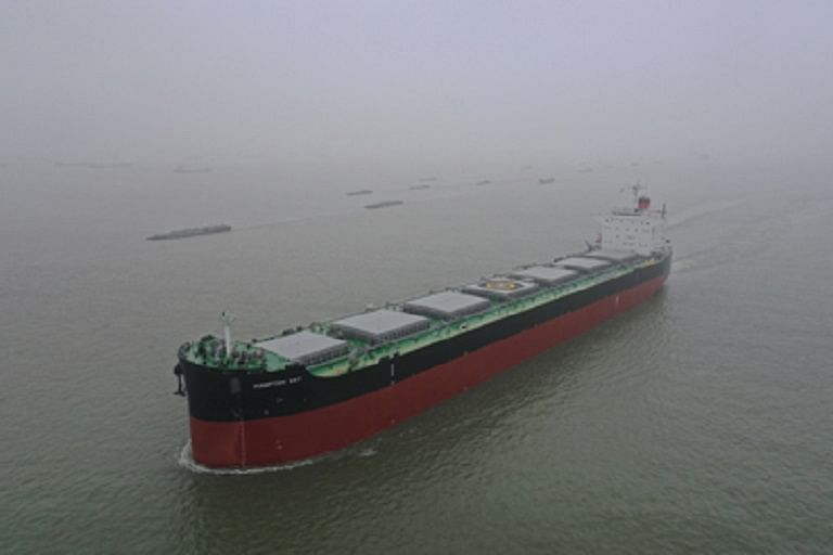 Kawasaki Delivers Bulk Carrier HAMPTON SKY
