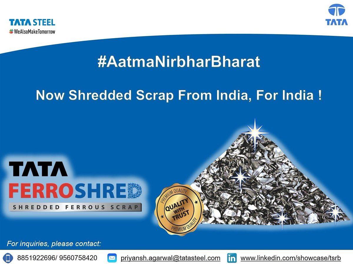 Tata Steel to Start Selling Tata FerroShred from Rohtak