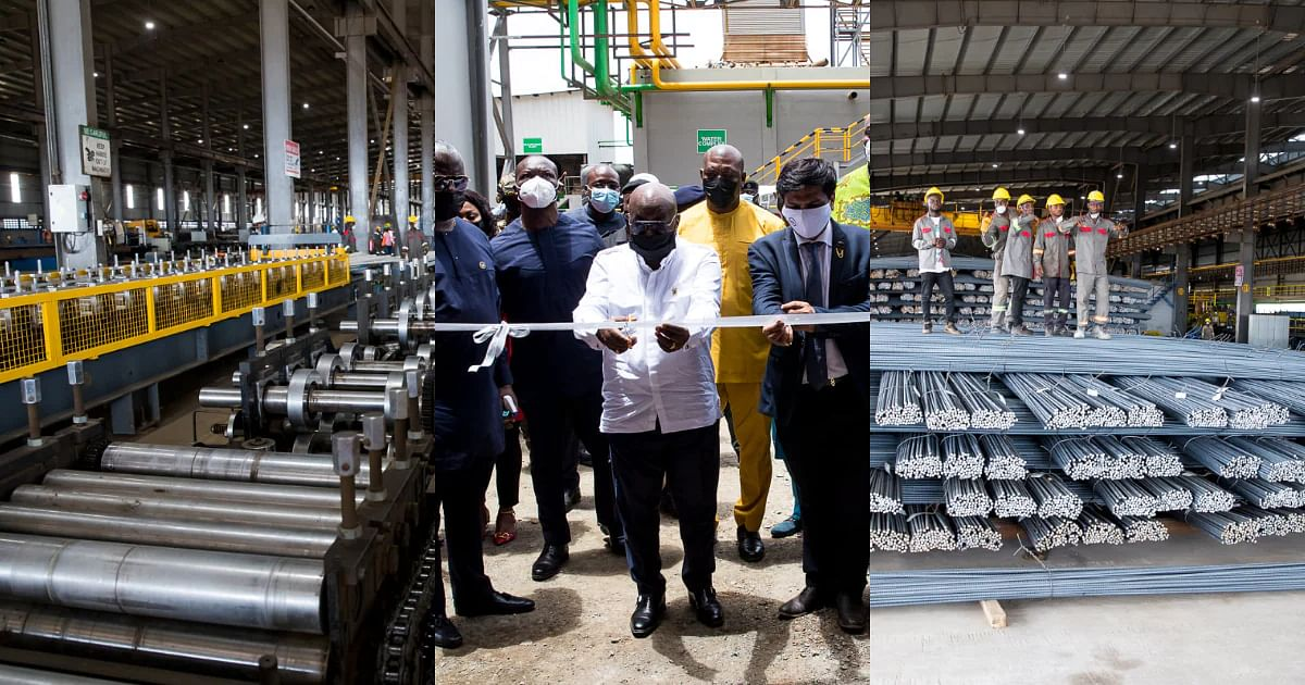 Phase 1 of B5 Plus Steel Plant in Ghana Opens
