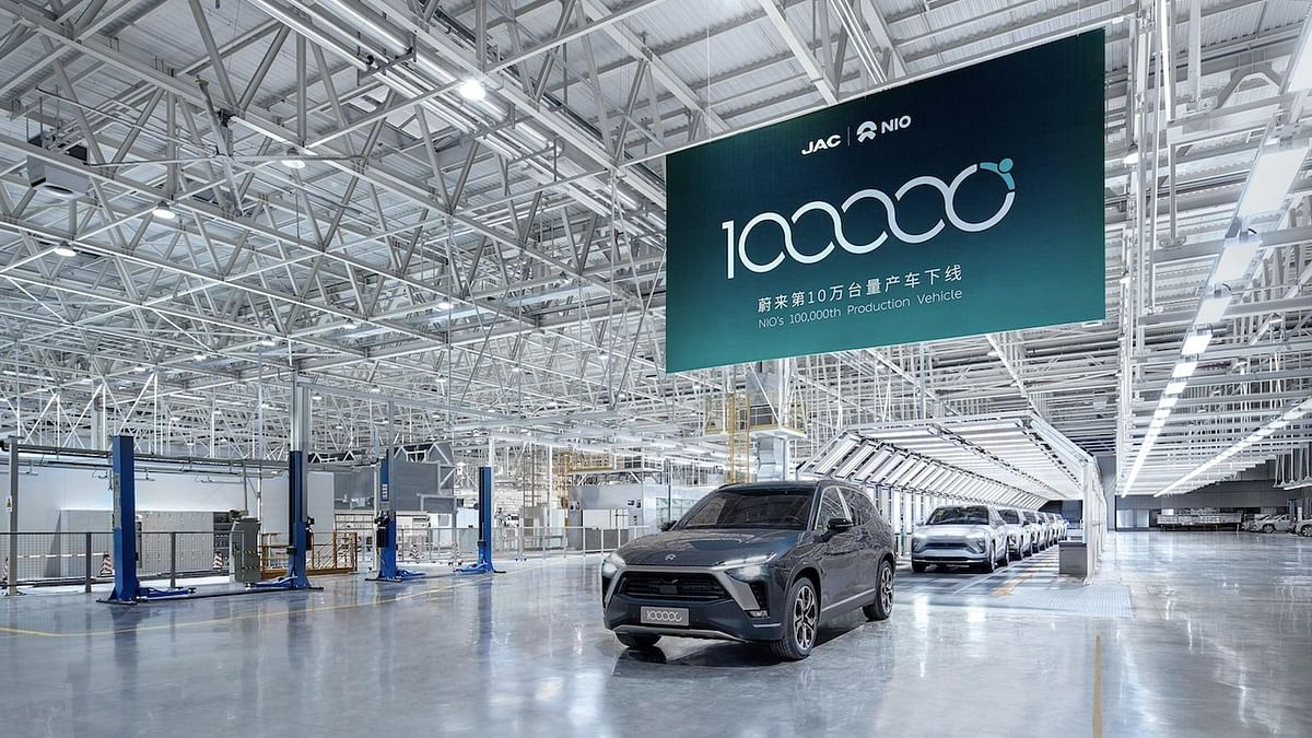 100,000th NIO Vehicle Rolls off Production Line in Hefei
