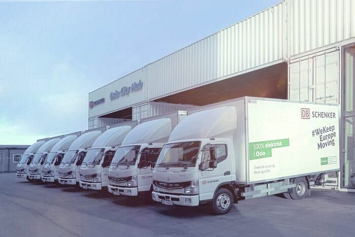 DB Schenker Expands Logistics in Norway with FUSO eCanter