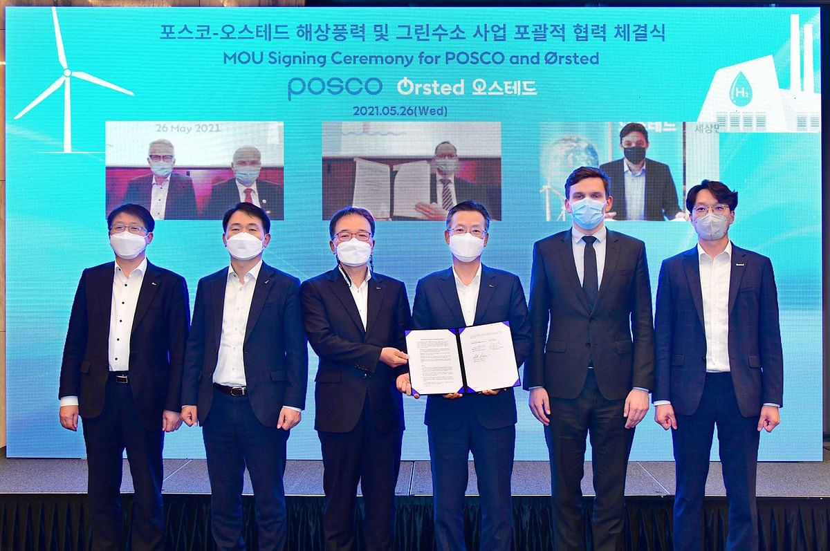 Ørsted & POSCO to Collaborate on Wind & Hydrogen in South Korea