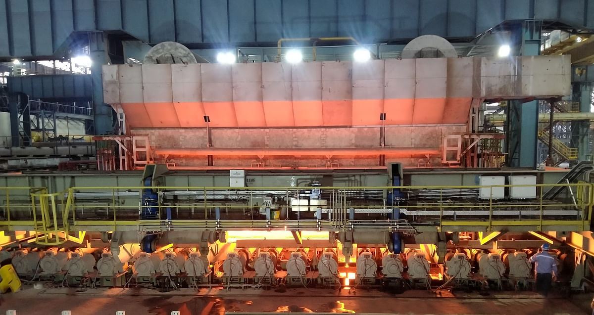 First Slab from Reheating Furnace Produced at JSW Steel Dolvi