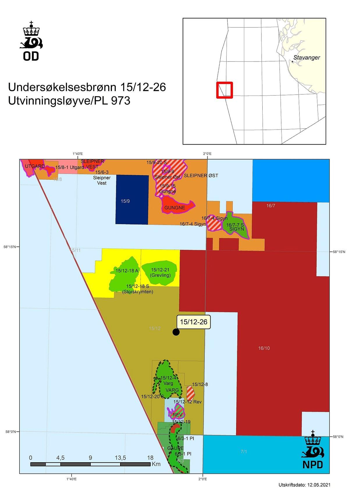 Chrysaor Norge Drills Dry WellNear Sleipner Øst Field in North Sea