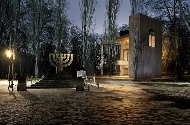Synagogue at Holocaust Massacre Site in Kyiv