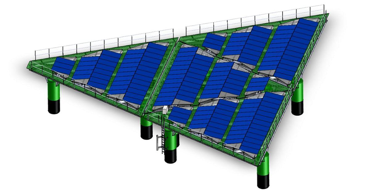 Aluminium Structure in Offshore Floating Solar Solution