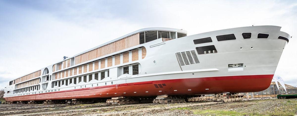 Concordia Damen Launches A-ROSA's E-Motion River Cruise Ship
