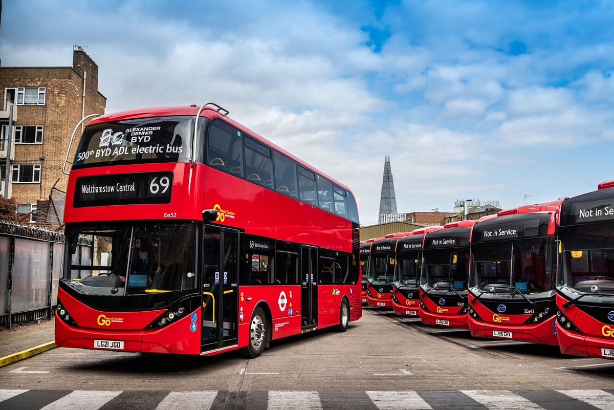 BYD ADL Delivers 500TH Electric Bus in UK