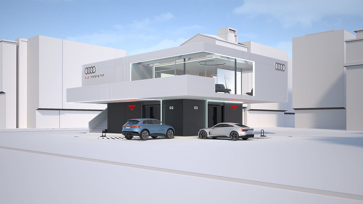 Audi Pilots Concept for Quick Battery Charging
